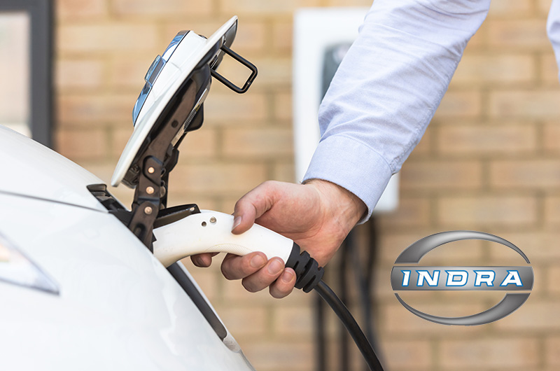 Indra Car charger in action